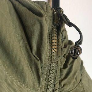 Olive green In flux jacket
